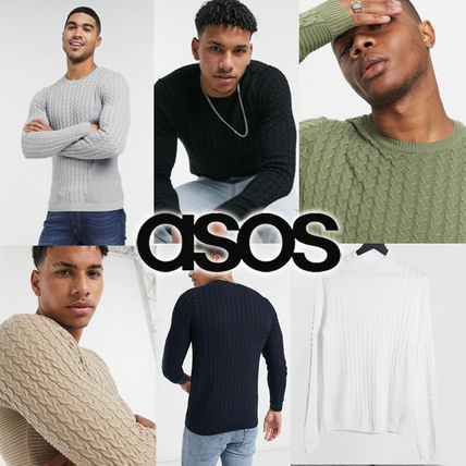 ASOS Sweaters Crew Neck Long Sleeves Plain Sweaters