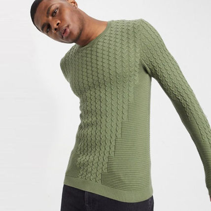 ASOS Sweaters Crew Neck Long Sleeves Plain Sweaters 9