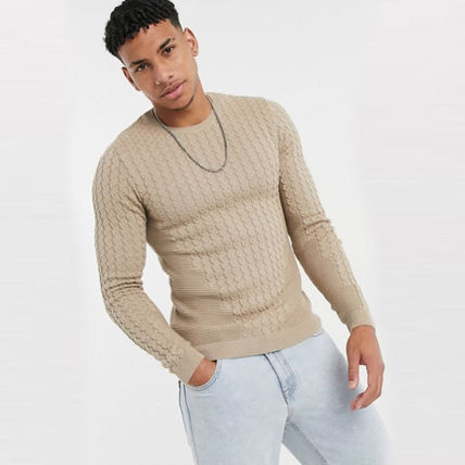 ASOS Sweaters Crew Neck Long Sleeves Plain Sweaters 11
