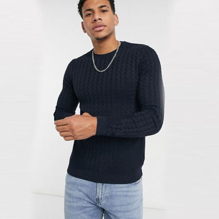 ASOS Sweaters Crew Neck Long Sleeves Plain Sweaters 16
