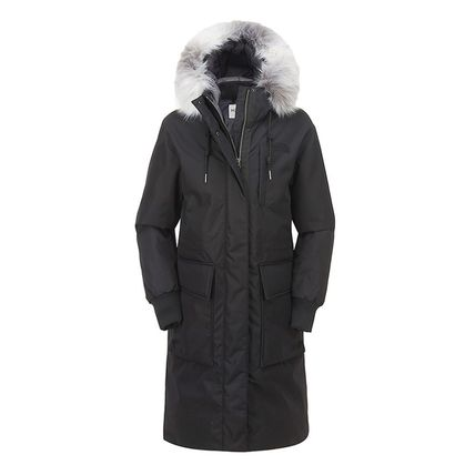 THE NORTH FACE WHITE LABEL Street Style Long Logo Down Jackets