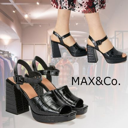 Open Toe Platform Casual Style Plain Party Style