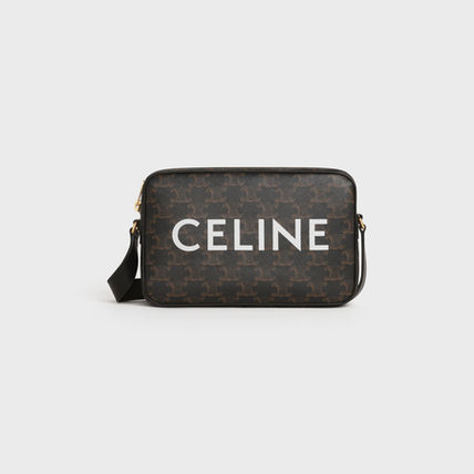 CELINE Triomphe Medium Messenger Bag In Triomphe Canvas With Celine Print