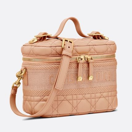 Christian Dior Casual Style Blended Fabrics Bag in Bag Vanity Bags 2WAY