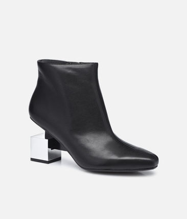 United Nude Plain Leather High Heel Boots