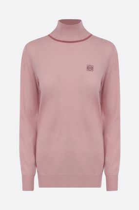 LOEWE Anagram Casual Style Cashmere Long Sleeves Plain High-Neck