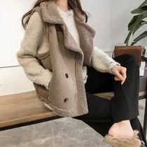 Casual Style Fur Office Style Elegant Style Shearling