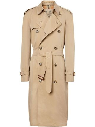 Burberry Street Style Plain Long Trench Coats
