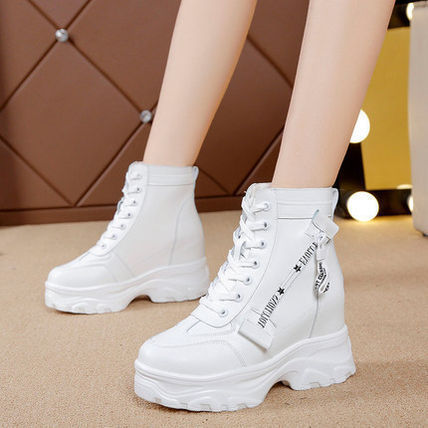 Wedge Platform Lace-up Lace-up Boots