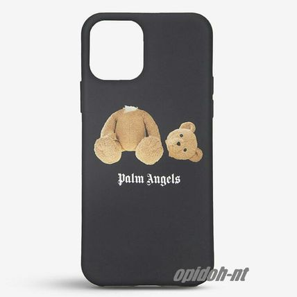 Palm Angels Street Style Plain Logo iPhone 11 Pro Smart Phone Cases