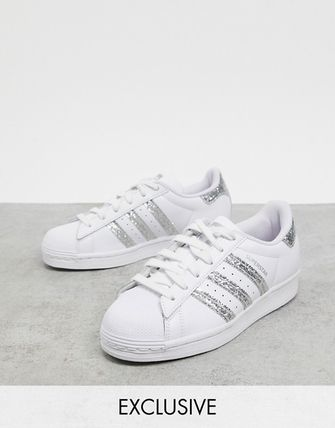 adidas SUPERSTAR Street Style Plain Logo Low-Top Sneakers