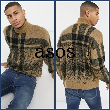 ASOS Sweaters Other Plaid Patterns Long Sleeves Sweaters