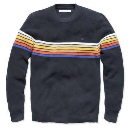 Crew Neck Street Style Long Sleeves Plain Cotton Surf Style