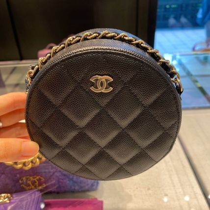 CHANEL Plain Logo Clutches