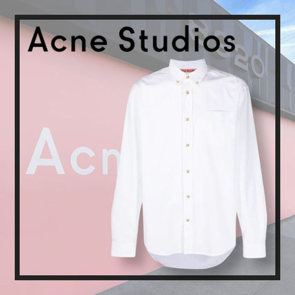 Ance Studios Shirts Button-down Street Style Long Sleeves Plain Cotton Designers