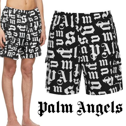 Palm Angels Monogram Street Style Logo Swimwear