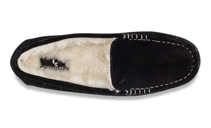 Moccasin Casual Style Suede Fur Plain Office Style Logo
