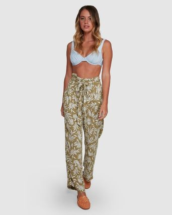 Billabong Flower Patterns Tropical Patterns Casual Style Long Khaki