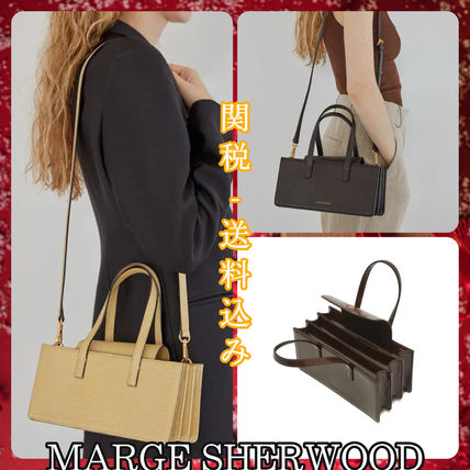 Casual Style Leather Elegant Style Logo Shoulder Bags
