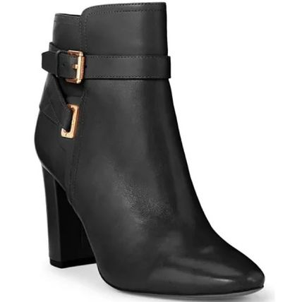 Ralph Lauren Casual Style Plain Leather Block Heels Party Style