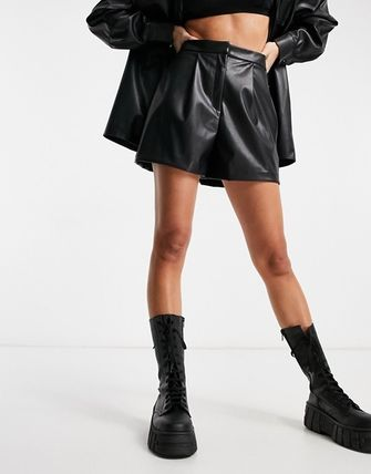 ASOS Short Casual Style Faux Fur Street Style Plain Office Style
