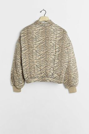 Casual Style Street Style Other Animal Patterns Jackets