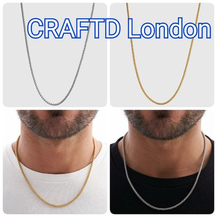 Unisex Silver 18K Gold Stainless Necklaces & Chokers