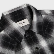 CELINE Shirts Button-down Other Plaid Patterns Street Style Long Sleeves 4