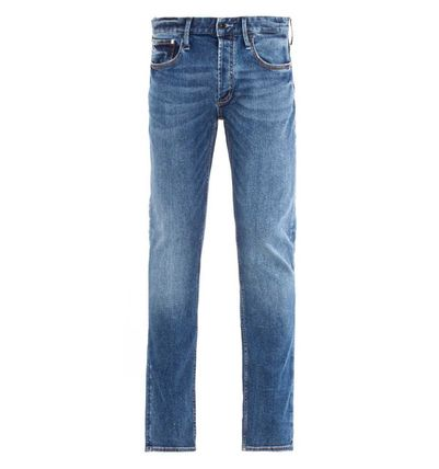 DENHAM More Jeans Plain Cotton Logo Jeans