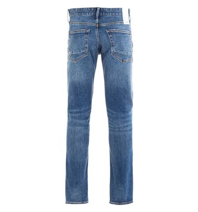 DENHAM More Jeans Plain Cotton Logo Jeans 3