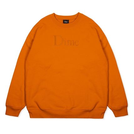 Dime Sweatshirts Crew Neck Pullovers Unisex Street Style Long Sleeves Cotton 2