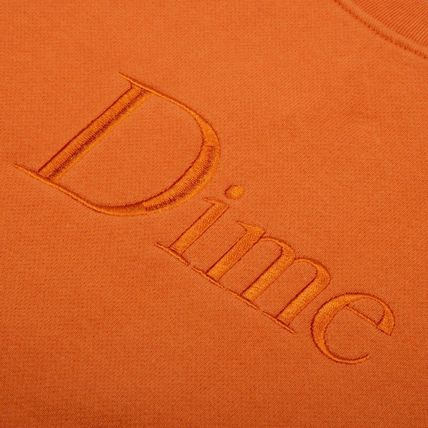 Dime Sweatshirts Crew Neck Pullovers Unisex Street Style Long Sleeves Cotton 3