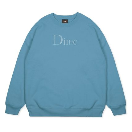 Dime Sweatshirts Crew Neck Pullovers Unisex Street Style Long Sleeves Cotton 4