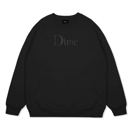 Dime Sweatshirts Crew Neck Pullovers Unisex Street Style Long Sleeves Cotton 6