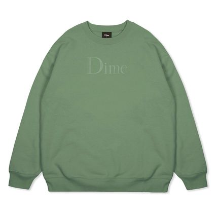 Dime Sweatshirts Crew Neck Pullovers Unisex Street Style Long Sleeves Cotton 8