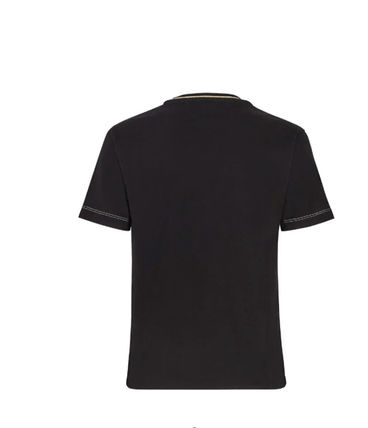 FENDI Cotton Short Sleeves Logo T-Shirts