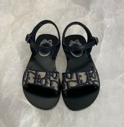 Christian Dior Open Toe Casual Style Elegant Style Logo Shoes