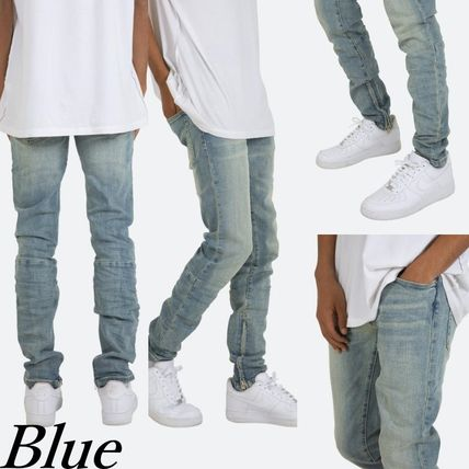 MNML More Jeans Denim Street Style Plain Cotton Jeans 3