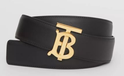 Burberry Formal Style  Logo Casual Style Leather Party Style