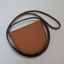 LOEWE Plain Leather Logo Coin Cases