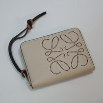 LOEWE Plain Leather Small Wallet Logo Coin Cases