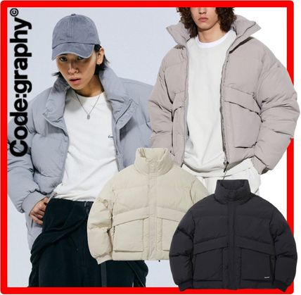 Code graphy Down Jackets Unisex Street Style Down Jackets