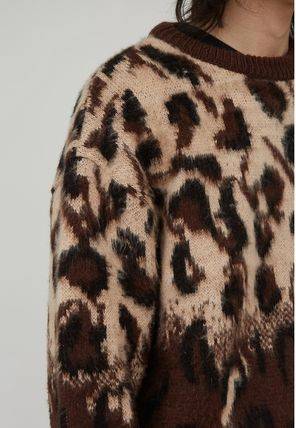 Raucohouse Sweaters Leopard Patterns Unisex Street Style Collaboration 3