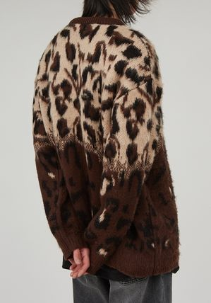 Raucohouse Sweaters Leopard Patterns Unisex Street Style Collaboration 6