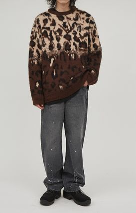 Raucohouse Sweaters Leopard Patterns Unisex Street Style Collaboration 7