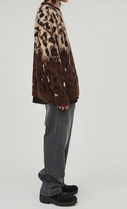 Raucohouse Sweaters Leopard Patterns Unisex Street Style Collaboration 8
