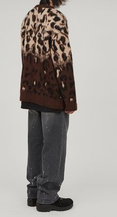 Raucohouse Sweaters Leopard Patterns Unisex Street Style Collaboration 9
