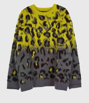 Raucohouse Sweaters Leopard Patterns Unisex Street Style Collaboration 10