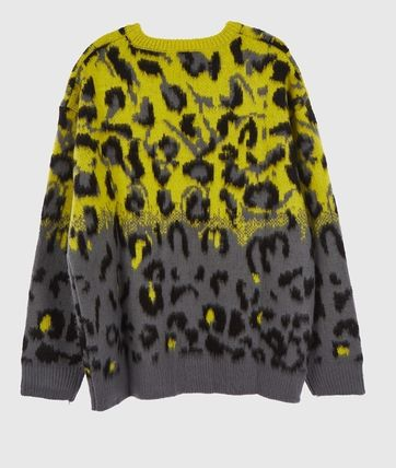 Raucohouse Sweaters Leopard Patterns Unisex Street Style Collaboration 11