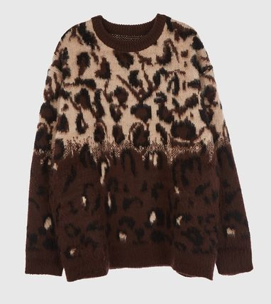 Raucohouse Sweaters Leopard Patterns Unisex Street Style Collaboration 12